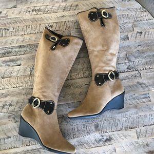Aerosoles 9.5 Riding comfort knee Boots Wedge Heel